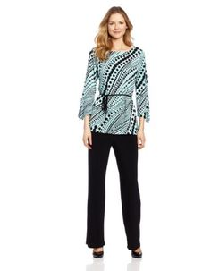 Danny & Nicole Women's Tunic Top And Pant Set « Clothing Impulse