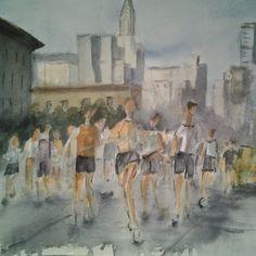 Pintar acuarelas: Maratón