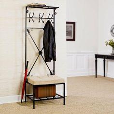 idée déco pour maison avec meuble d'entrée en fer forgé