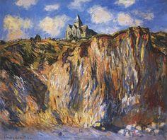 Claude Monet    Varangeville Kilisesi, Sabah Etkisi / The Church at Varengeville, Morning Effect    1882. Tuval üzerine yağlıboya. 60 x 73 cm. Private Collection.