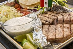 Grilled tuna tacos are the perfect Olympic food to support the Mexican athletes. Create smoked tuna tacos for a Rio Olympic party, the fresh flavors & creamy cilantro taco sauce fuel your fire to cheer louder. Salmon Recipes, Fish Recipes, Seafood Recipes, Mexican Food Recipes, Cooking Recipes, Healthy Recipes, Grill Recipes, Keto Recipes