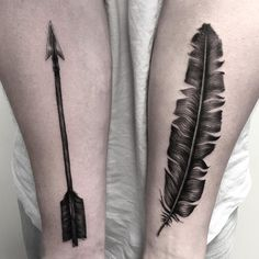 Arrow and feather for Patrik. Tack! #feathertattoo #arrowtattoo #tattoo #blackworkerssubmission #taot #diy #blacktattooart #btattooing #tatuering #inkstinctsubmission #iblackwork #stockholm #stucklife #startwithapen