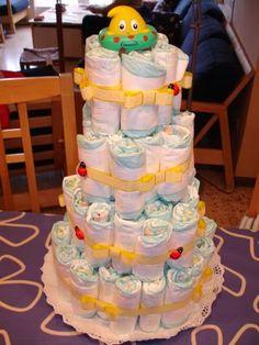 hacer un arreglo en forma de paste con pa ales para un baby shower