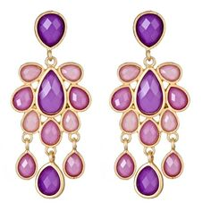 Jewel Cabana Chandelier Earrings in Amethyst <3 <3