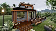 Bath house plans dream homes 41 ideas for 2019 House Deck, Loft House, Tiny House, Facade House, Two Story House Design, Dream House Exterior, House Entrance, Loft Style, Bath Design