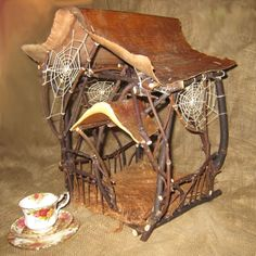 Faery house with portico by Gifts from The House Of Whimsy