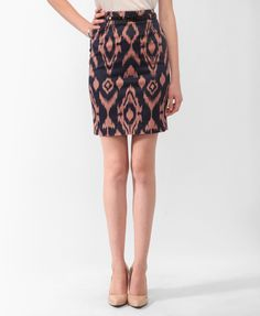 Ikat Pencil Skirt | FOREVER21 - 2000042631
