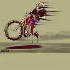Illustration by Hamerred #illustration #design #motorcycles #motos   caferacerpasion.com