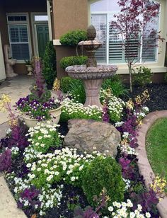 Front Yard Garden Design Rustic Front Yard Landscaping Ideas 20 - Most amateur front yard landscape designs include some grass, a tree or two and maybe a flower bed. And sadly, […] Unique Garden, Front Yard Design, Landscape Plans, Landscape Designs, Landscape Architecture, Landscape Bricks, Landscape Timbers, Japanese Landscape, Spring Garden