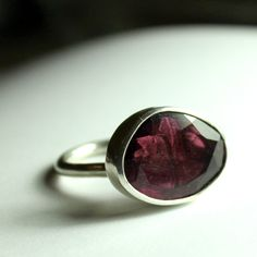 Absolutely LOVE this ring! Freeform Rosecut Pink Tourmaline Passion Ring.
