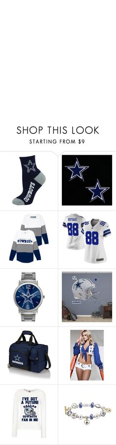 """cowboys"" by perryz on Polyvore featuring beauty, For Bare Feet, WinCraft, NIKE, Game Time, Fathead, Picnic Time and The Bradford Exchange"