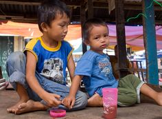This was taken early in the morning at the market place in Hilongos, Leyte. The one on the right burst into tears seconds after this shot was taken!