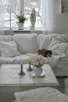 Tulpaner och vardagsrum