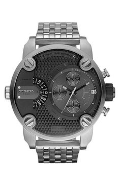 DIESEL® 'Little Daddy' Chronograph Bracelet Watch, 51mm