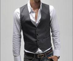 Classic stylish mens vest custom made.
