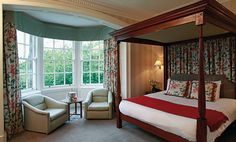 Four poster bedroom at BEST WESTERN PLUS Keavil House Hotel