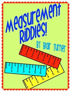 Measurement Riddles -- Measure to the Nearest 1/4 Inch...Makes a great center, especially at the end of the year $