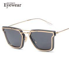 65c3329b769 BOUTIQUE Men Square Style Coating Sunglasses Women Twin-Beams punk flat top  Retro Designer Vintage Glasses H1708