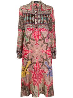 Red Midi Dress, Midi Shirt Dress, Mandarin Collar, Mid Length, Juicy Couture, Red Green, Printed Shirts, Paisley, Tulle
