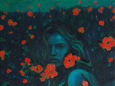 """Saatchi Art Artist Piot Brehmer; Painting, """"poppyfield"""" #art"""