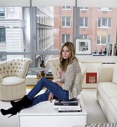 Olivia Palermo's home: vintage chic Tribeca apartment in NYC