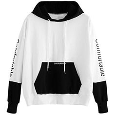 Blouses for Women,Fashion Women Character Hoodie Pockets Drawstring Long Sleeve Sweatershirt Tops