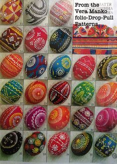 """Ukranian """"batik"""" Easter eggs -- tutorials, tons of designs and patterns on this blog!"""