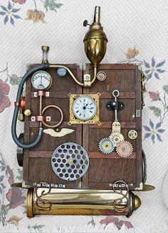 Steampunk Clock / Time Machine 1 by sundogrr, via Flickr