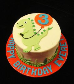 Dinosaur Cake. For Lachlan of course :)