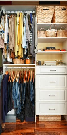 11 closet makeover tricks. One closet, two lives? It's a challenge but no impossible feat. Since no two closets are exactly alike, we have surefire strategies, tested tools and foolproof solutions that make organizing a stylish cinch.
