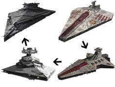 Gli Arcani Supremi (Vox clamantis in deserto - Gothian): Evoluzione delle astronavi Star Destroyer da Repub...