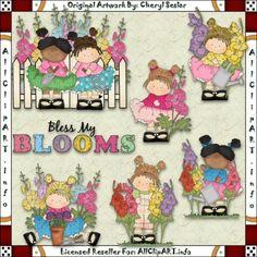 Bloom Girls 1 - Clip Art by Cheryl Seslar