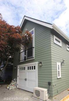 Crown Hill Backyard Cottage Built Atop 1-Car Garage