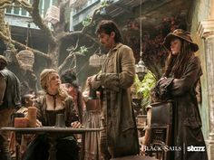 Captain Jack Rackham taking his first order of business.
