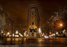On the edge of Gastown.   Always loved the Hotel Europe.