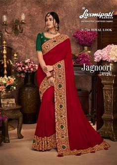 JAGNOORI Embroidery occasional wear Sarees' Catalog Wholesale/Retail