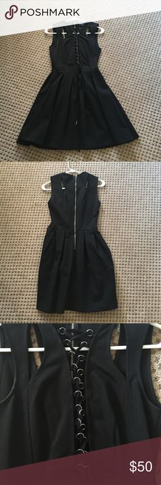 Black lace tied up dress Black lace tied up dress. Only worn one time Nasty Gal Dresses Mini