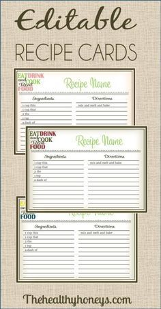 Free recipe binder in 3 color options pinterest recipe binders real food recipe cards diy editable forumfinder Choice Image