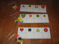 Double Trouble Shapes - this is a great busy bag idea! #prek (pinned by Super Simple Songs)
