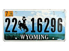 Nummernschild Wyoming