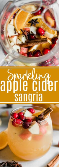 Nadire Atas on Winter Sangria Sparkling Apple Cider Sangria. Sparkling Apple cider loaded up with chunks of apple, orange, cranberries, and all the best fall spices. No alcohol included makes this perfect for the entire family! Winter Sangria, Thanksgiving Sangria, Italian Thanksgiving, Best Apple Cider, Apple Cider Sangria, Spiced Apple Cider, Sangria Drink, Sangria Recipes, Drinks Alcohol Recipes