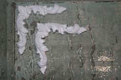 2 Corner piece appliques /  furniture appliques /  DIY projects / onlays / spare parts / shabby chic / chic furniture / distressed furniture...
