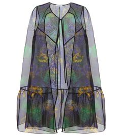 Erdem | Multicolor Angela Silk Organza Cape | Lyst