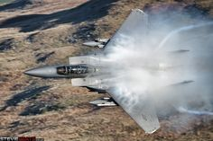https://flic.kr/p/Tzse6g | F-15E Strike Eagle Pulling Vapour | Pulling vapour during a low pass.   USAF F-15E Strike Eagle (LN 96 0204) 492d Fighter Squadron 48th Fighter Wing  Instagram | Facebook | Website