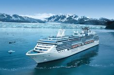 Island Princess cruise ship surrounded by glaciers andyyy hubbub x Boydr mountains in Alaska World Cruise, Cruise Europe, Cruise Travel, Cruise Vacation, Dream Vacations, Disney Cruise, Top Cruise Lines, Cruise Prices, Msc Cruises