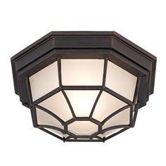 """Dark Rust 11"""" Wide Outdoor Ceiling Light Fixture   $34.99"""