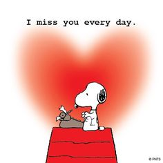 """I Miss You Every Day"", Snoopy writes a Letter to Charles Schultz, the late Creator of the Peanuts Comics."