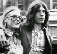 vintage everyday: Marianne Faithfull & Mick Jagger: 37 Pictures of the Grooviest Couple of the 1960s