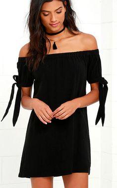 Al Fresco Evenings Black Off The Shoulder Dress via @bestchicfashion