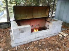 Picture of Large Rotisserie Pit BBQ